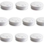 10er Pack Rauchwarnmelder DIN EN 14604 inkl. Batterien für 24,99€