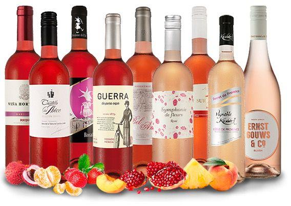 9 Flaschen Rosé Wein Probierpaket für 39,99€