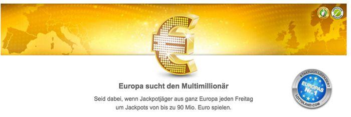 Bildschirmfoto 2016 09 21 um 10.20.27 Lottoland: 3 Tippfelder Eurojackpot (90 Mio. Jackpot!) + 15 Rubellose für 0,99€ für alle Neukunden