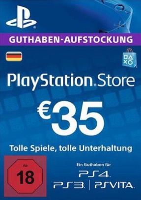 35€ Playstation Network Guthaben für 25€