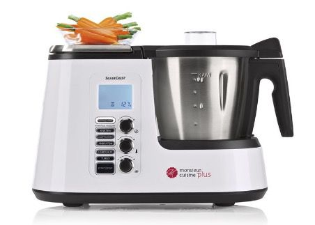 Silvercrest Monsieur Cuisine Plus Küchenmaschine mit Kochfunktion für 199€   Thermomix Alternative?