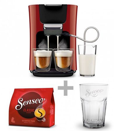 Bildschirmfoto 2016 09 28 um 12.11.42 Philips Senseo HD7855/80 Latte Duo Kaffeepadmaschine + 16 Pads + Latte Macchiato Glas für 149€