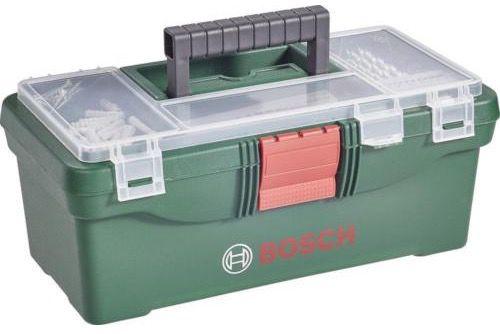 Bosch Werkzeugkasten inkl. Bohrer  und Bit Sortiment 59 teilig für 14,95€ (statt 29€)