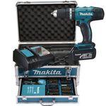 Makita DHP453RFX2 Akku-Schlagbohrschrauber + Alu-Koffer & 96-tlg. Zubehör für 229,90€ (statt 251€)