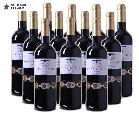 12 Flaschen Ursa Maior Rioja DOCa Crianza für 59,90€   viele Prämierungen!