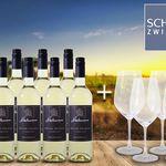 8 Flaschen Niedermann Müller-Thurgau Weißwein + 4 Gläser für 39,90€