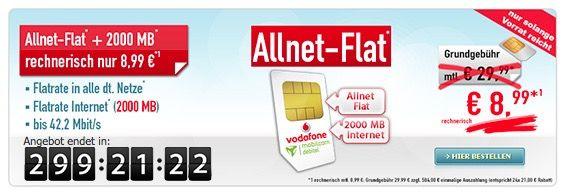 Bildschirmfoto 2016 10 19 um 13.38.35 Vodafone Allnet Flat + 2GB für 8,99€ mtl.