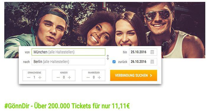 Bildschirmfoto 2016 10 24 um 15.15.55 Flixbus mit 200.000 Bustickets bei App Buchung für je 11,11€