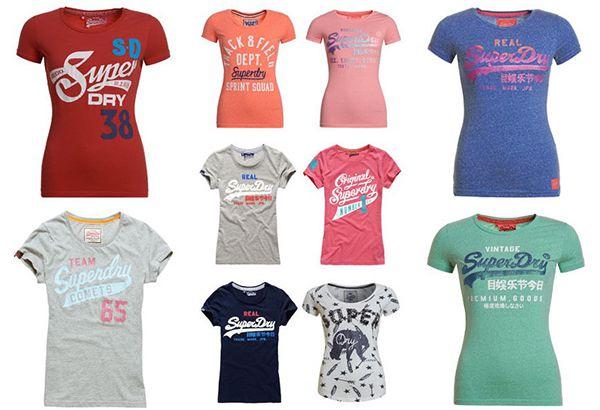 Bildschirmfoto 2016 10 27 um 14.07.23 Superdry Damen Shirts verschiedene Modelle für je 10,95€ (statt 20€)