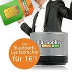 klarmobil Smart Flat im Vodafone-Netz für 3,41€ monatlich + Bluetooth-Lautsprecher bzw. 2,95€ monatlich ohne Lautsprecher