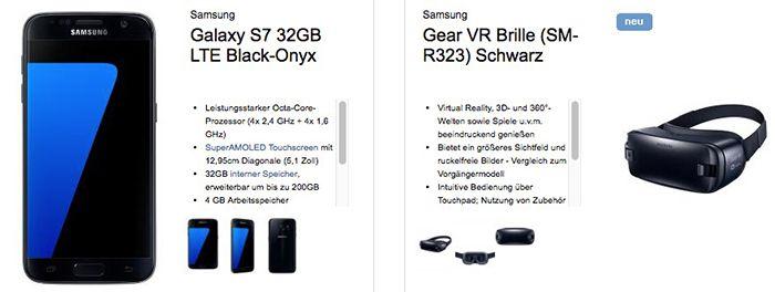 Telekom Magenta Mobil S + Galaxy S7 (Edge) + VR Brille + 64GB Speicherkarte ab 39,95€ mtl.