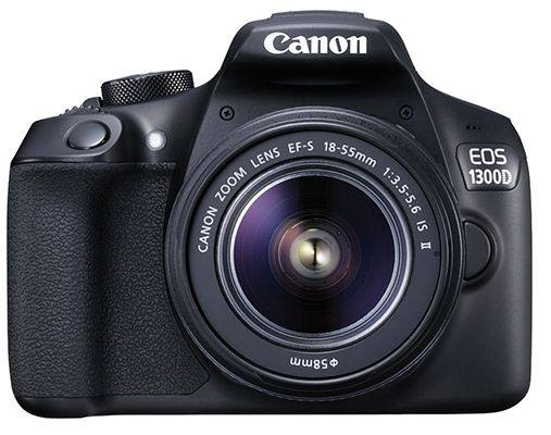 CANON EOS 1300D Spiegelreflexkamera + EF S 18 55mm IS Objektiv für effektiv 283,99€ (statt 349€)