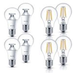 4er Pack Philips LED-Lampen E27 9,5W (wie 60W) oder 4,3W (wie 40W) für je 14,99€ (statt 20€)