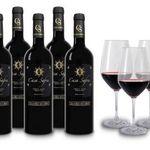 6 Flaschen Casa Safra Terra Alta DO Gran Reserva + 4 Weingläser für 39€ – goldprämiert!