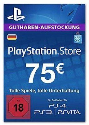 75€ Playstation Network Guthaben für 62,01€ (statt 69€)