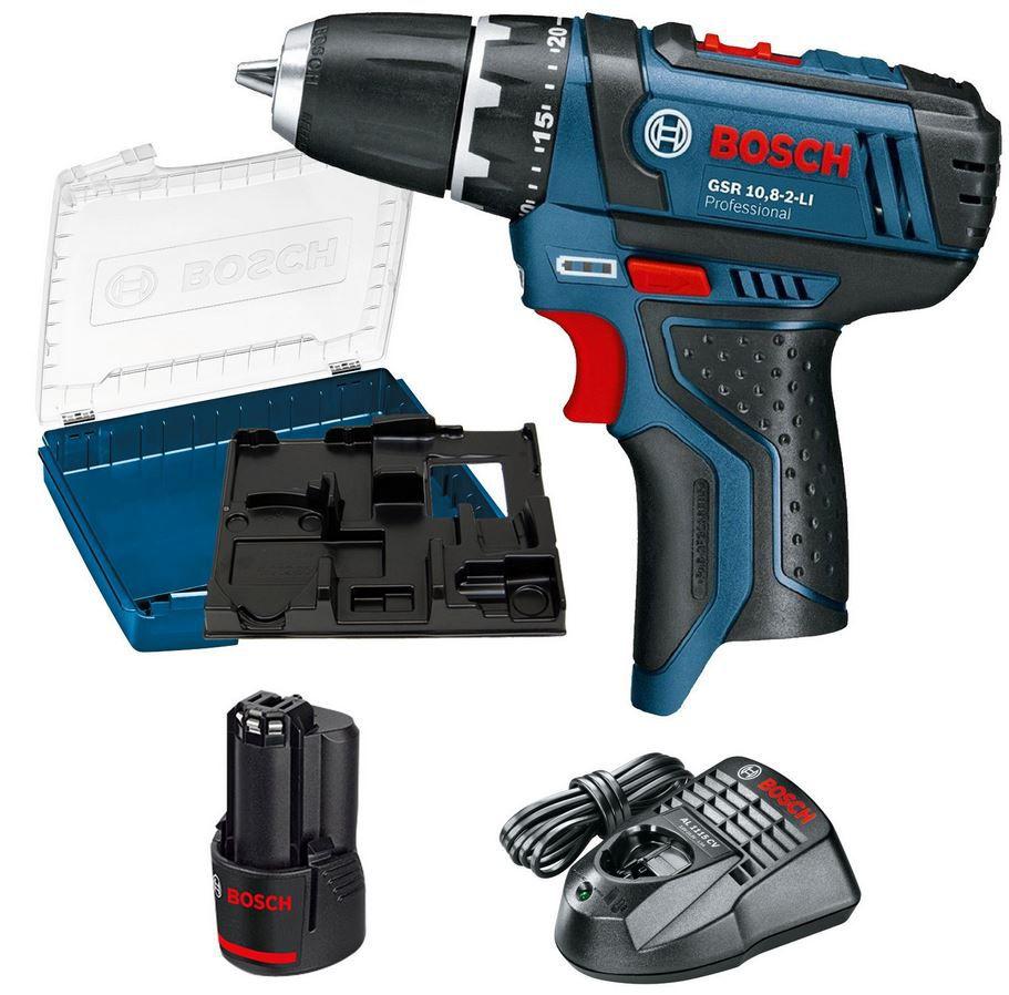 Bosch GSR 108 2 Li + 1x 20 Akku BOSCH GSR 10,8 2 LI Professional Akku Bohrer Set für 69,95€