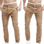 Merish J67 – Herren Slim Fit destroyed Chinos für je 16,90€