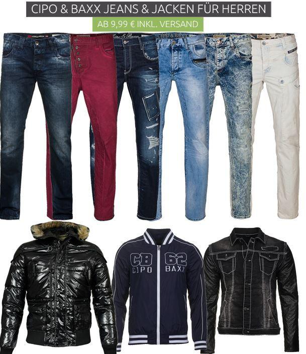 Cipo Baxx Jeans und Jacken Angebot1 CIPO & BAXX Jacken & Jeans Ausverkauf   ab 9,99€