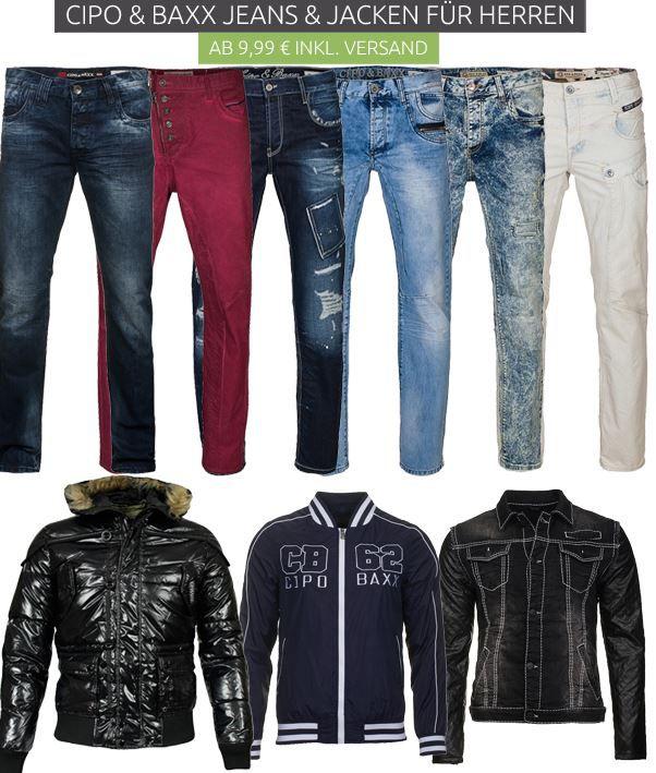 Cipo Baxx Super Sale CIPO & BAXX Jacken & Jeans Ausverkauf   ab 9,99€