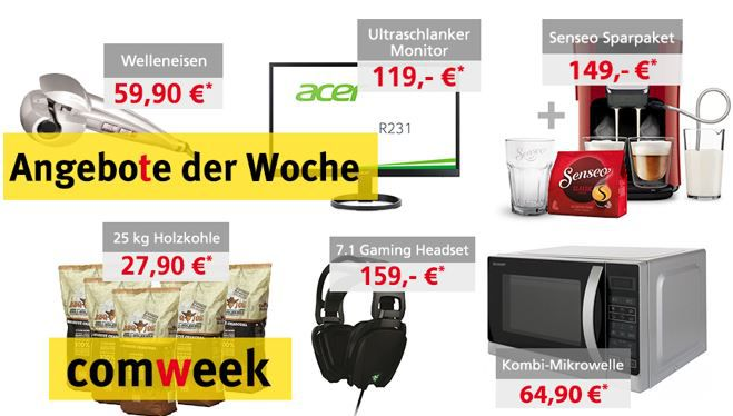 Comweek Angebote Comtech Comweek Deals – z.B. Acer R231   23 IPS Monitor statt 142€ für 119€