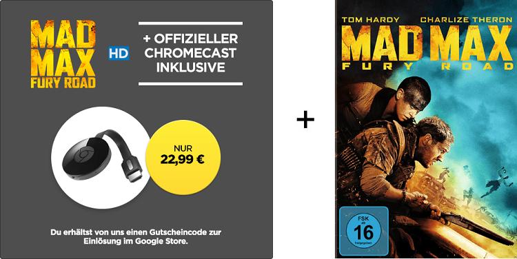 Google Chromecast 2 (2015) + Mad Max für 22,99€