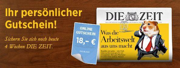 4 Wochen Die Zeit inkl. Archiv Zugang gratis   Kündigung notwendig