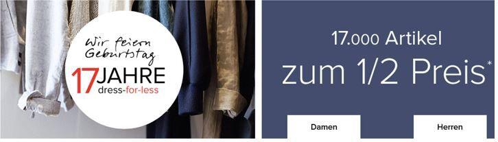 Dress Rabatt Gutschein dress for less   50% Rabatt auf (fast) alles + 20€ extra Rabatt ab 80€