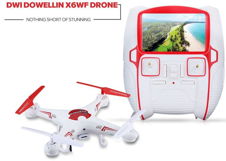 Drohne günstig Dwi Dowellin X6WF   Quadcopter Kamera Drohne für nur 19,99€