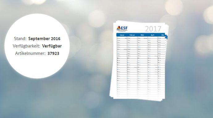 ESF ESF Wandkalender 2017 (DIN A2) gratis
