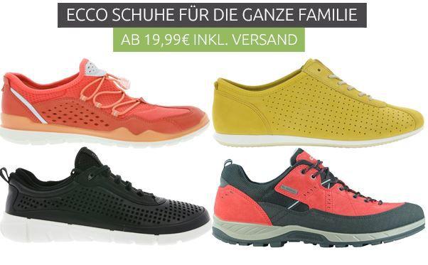 ecco   Damen, Herren und Kinder Schuhe ab 19,99€