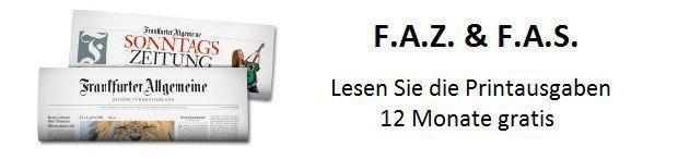 12 Monate FAZ und FAS gratis   endet automatisch