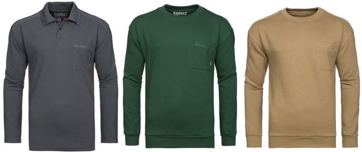 FRISTADS KANSAS Match FRISTADS KANSAS Match   Herren Pullover oder Sweat Shirt bis 4XL für je 11,99€