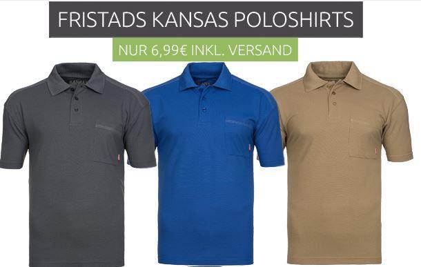 Fristads Kansas Poloshirts FRISTADS KANSAS Match Herren Poloshirts für nur 6,99€