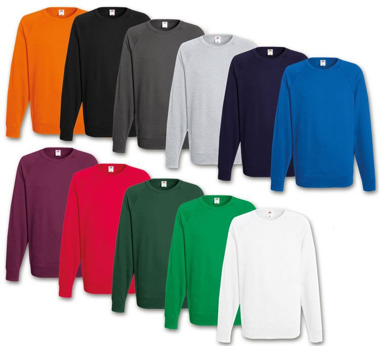 Fruit of the Loom Herren Sweatshirt 2er Pack Fruit of the Loom Herren Sweatshirts für je 18,99€
