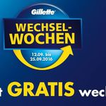 Tipp: ProShield oder Mach3 Turbo Rasierer kostenlos in den Gilette Wechselwochen (nur noch heute)