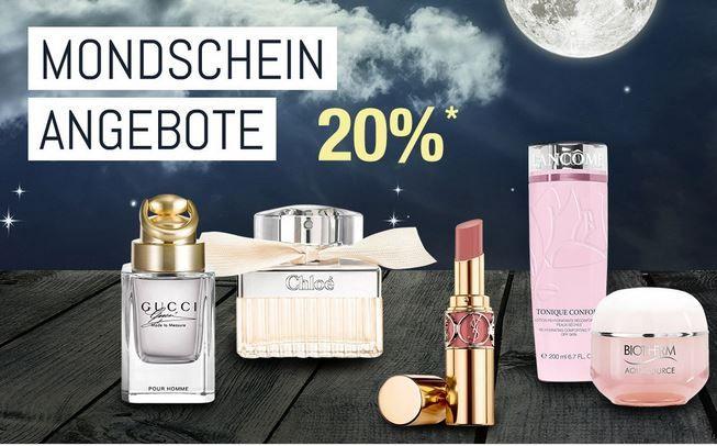GK Mondscheinangebote 20 % auf Artikel aus der Parfümerie sowie auf Beautyprodukte   Galeria Kaufhof Mondschein Angebote