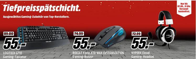 LOGITECH G710 Gaming Keyboard für 55€   in der Media Markt Gamer Tiefpreisspätschicht