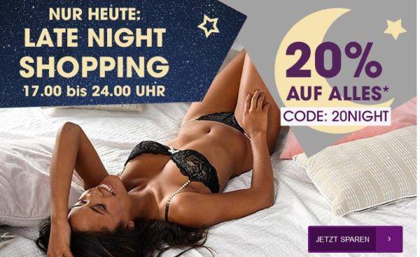 Lascana 20% Late Night Shopping: 20% Rabatt auf Alles   bis Mitternacht