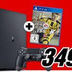 SONY PlayStation 4 Slim Konsole 1TB Schwarz + FIFA 17 für 349€