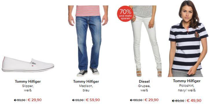 Hilfiger günstig Tommy Hilfiger Slipper ab 29,90€ im dress for less Tages Sale mit bis zu 70% Rabatt