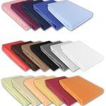 Julido Jersey Spannbettlaken in 5 Größen 18 Farben für je 9,95€