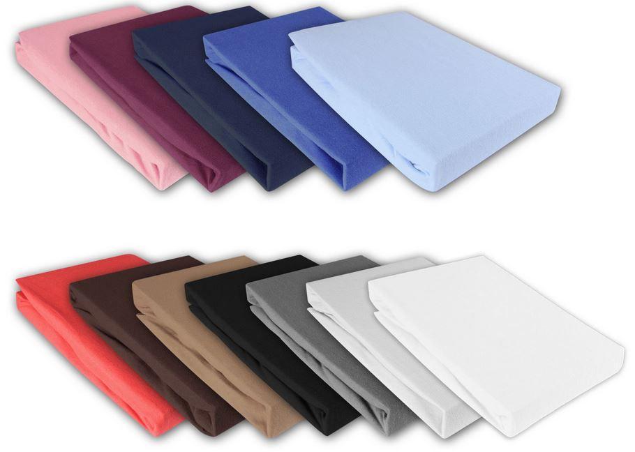 Jersay Bettwäsche Julido Jersey Spannbettlaken in 5 Größen 18 Farben für je 9,95€