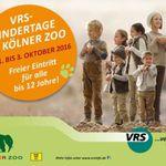 Kölner Zoo: Freier Eintritt für alle Kinder bis 12 Jahre (1.10. – 3.10.)
