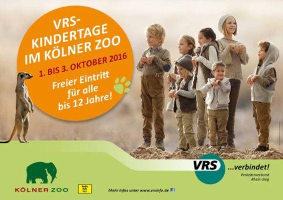 Kölner Zoo: Freier Eintritt für alle Kinder bis 12 Jahre (1.10.   3.10.)