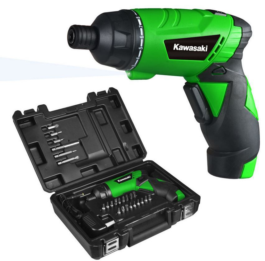 KAWASAKI K AK 3,6 Li 2   Lithium Akkuschrauber für 19,90€