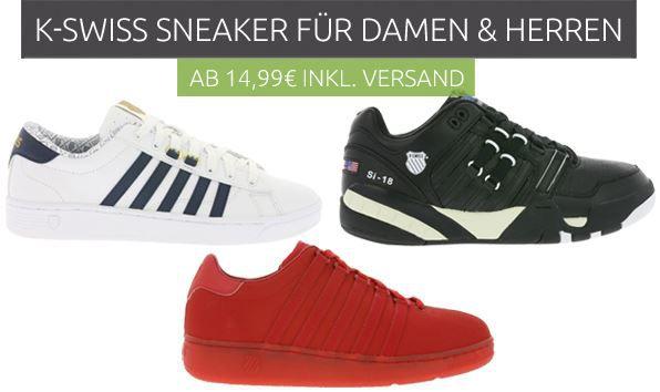 KSiss sneaker Sale K Swiss Damen und Herren Sneaker ab 14,99€