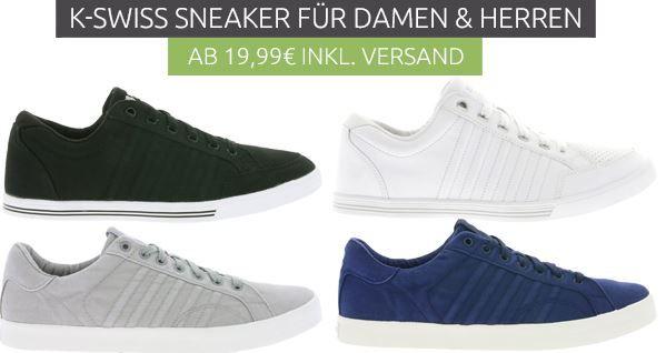 KSwiss Sale K Swiss Damen und Herren Sneaker ab 19,99€