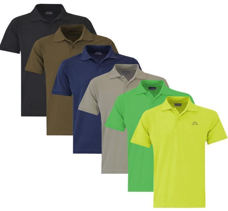 Kappa Scotty Polo Shirts Kappa Scotty und Live MSS   Herren Pique Poloshirt  bis 4XL für je 11,95€