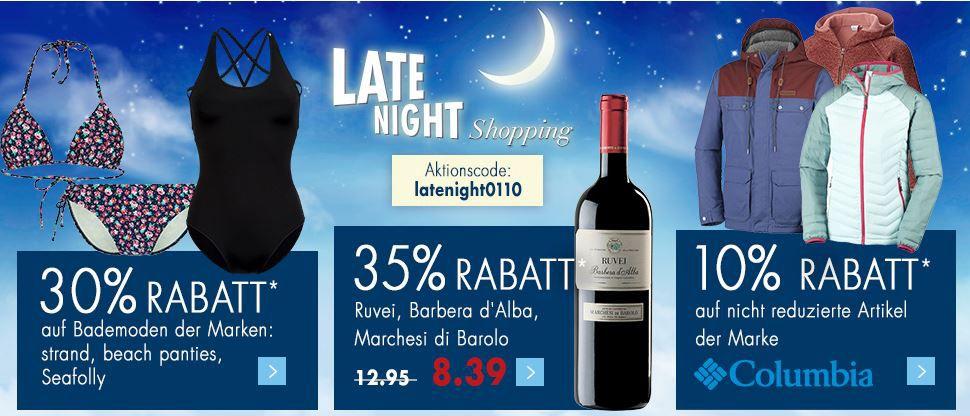Karstadt Late Night 01.10.2016 Karstadt Weekend Late Night mit z.B. 10% Rabatt auf nicht reduzierte Artikel der Marke: Columbia