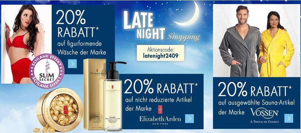 Karstadt Late Night 24.09.2016 Karstadt Weekend Late Night mit z.B. 20% auf ausgewählte VOSSEN Sauna Artikel